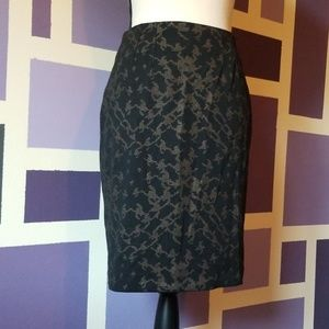 Halogen Stretchy Pencil Skirt with Metallic Accent